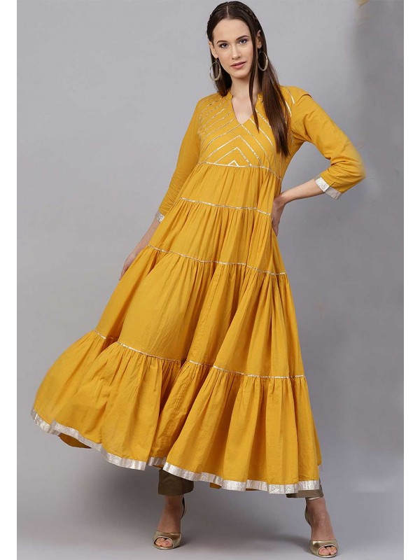 Yellow Colour Designer Kurti.