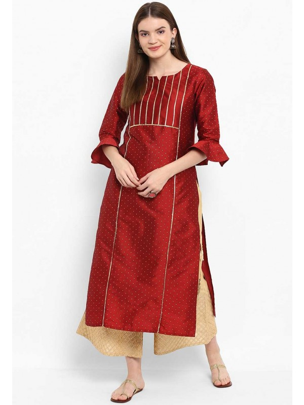 Red Colour Kurti.