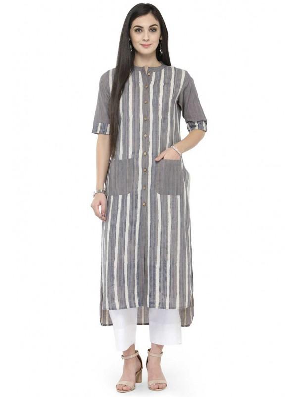 Grey Colour Casual Saree.