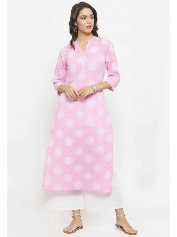 Pink Colour Kurti.
