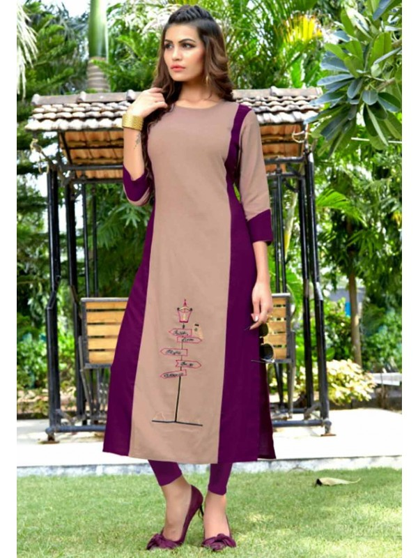 Multi Colour Cotton Kurti.