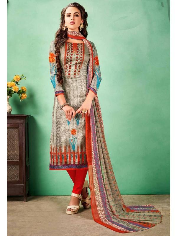 Multi Colour Printed Salwar Suit.