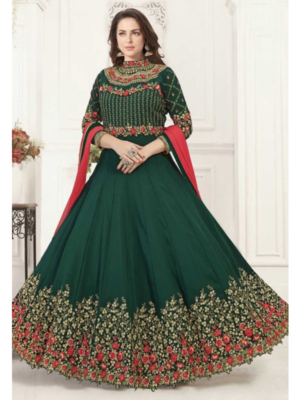 Green Colour Designer Salwar Kameez.