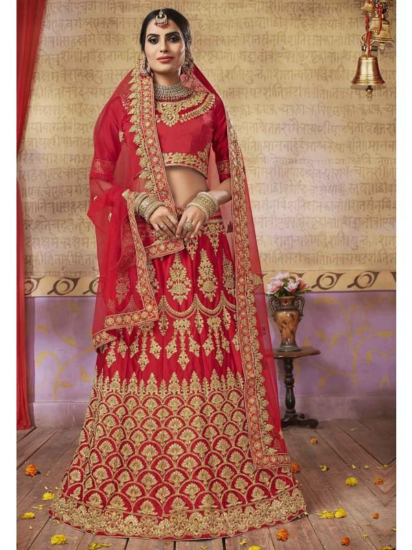 Red Colour Wedding Designer Lehenga.