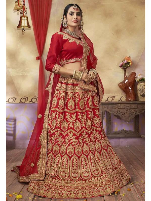 Red Colour Lehenga Choli.