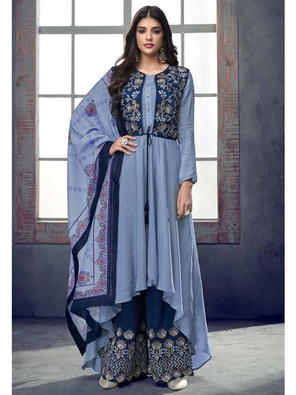 Exclusive Blue Colour Designer Salwar Kameez.