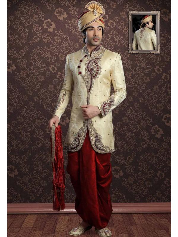 Golden Colour Indian Designer Indowestern.