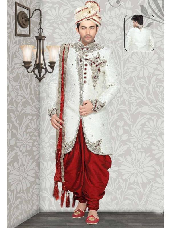 Off White Colour Indian Sherwani.