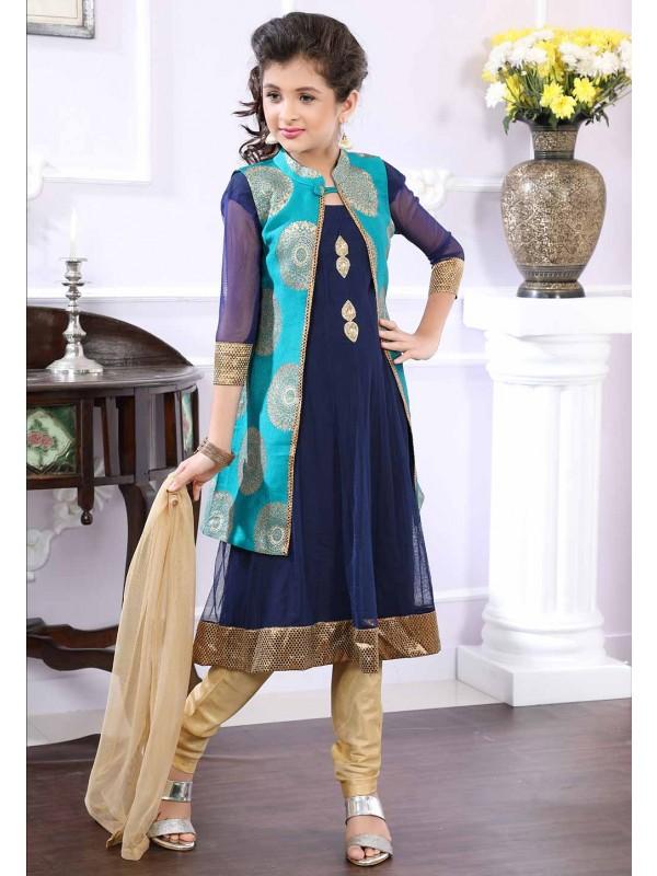 Blue,Greeen Colour Salwar Suit.