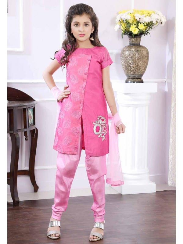 Girl's Pink Salwar Suit.