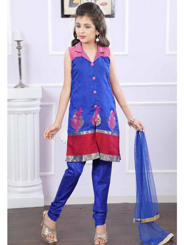 Blue Colour Salwar Suit.