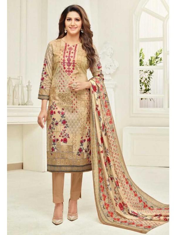 Beige Colour Bollywood Salwar Suit.