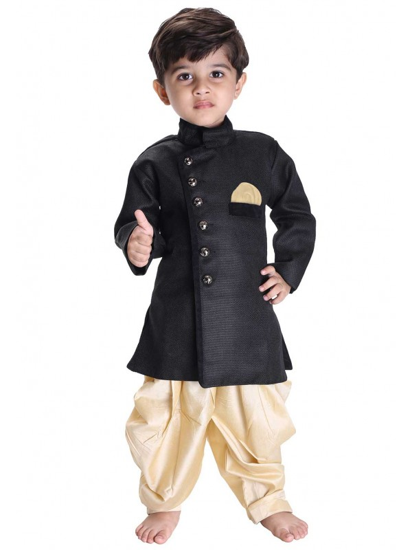 Black Colour Readymade Kurta Pajama.