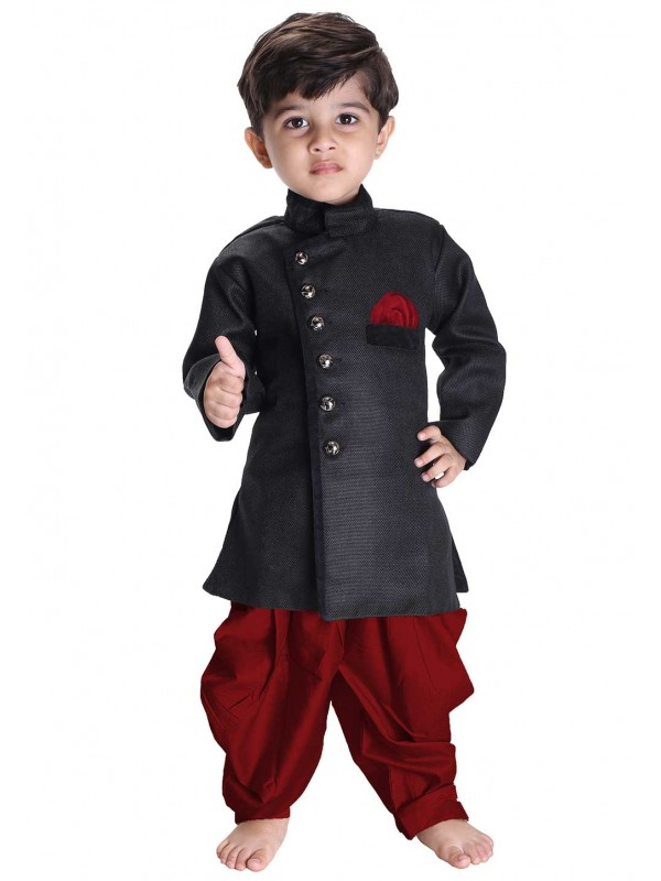 Black Colour Boy's Readymade Kurta Pajama.