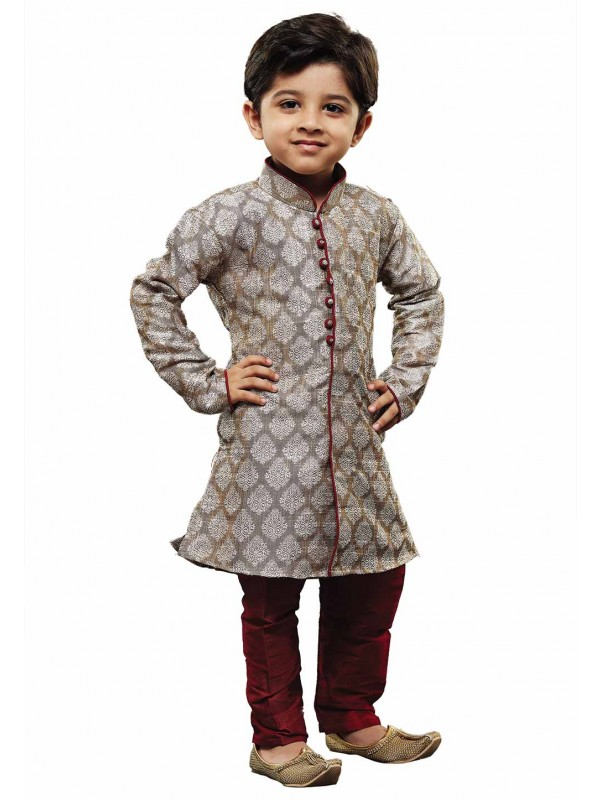 Grey Colour Readymade Kurta Pajama.