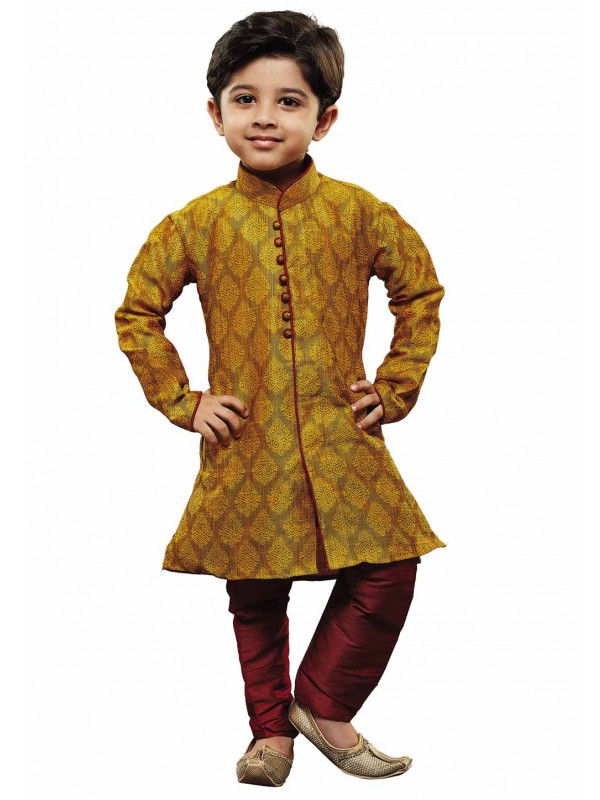 Yellow Colour Designer Kurta Pajama.