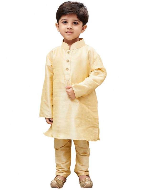 Cream Colour Traditional Kurta Pajama.