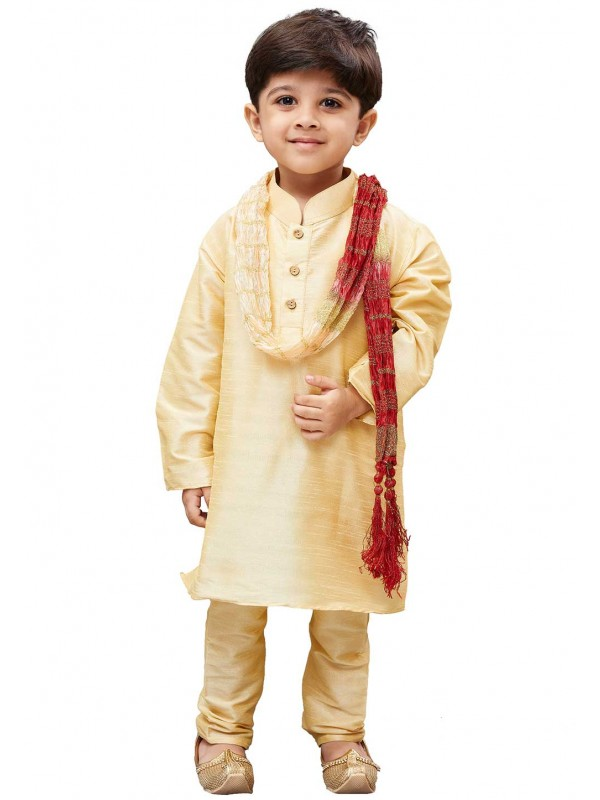 Cream Colour Boy's Kurta Pajama.