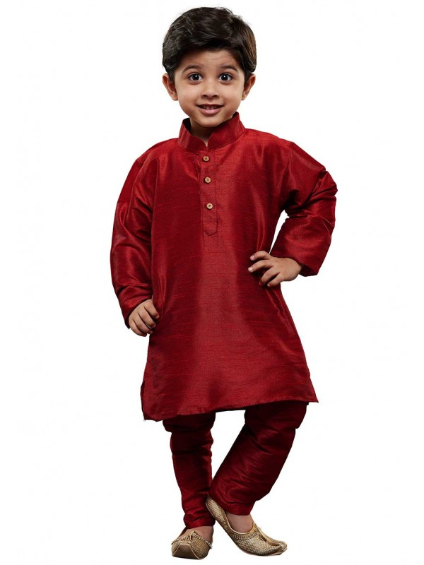 Boy's Kurta Pajama Maroon Colour.