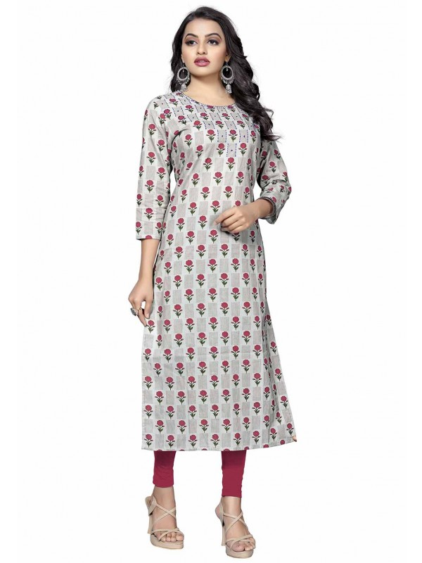 Grey Colour Casual Kurti.