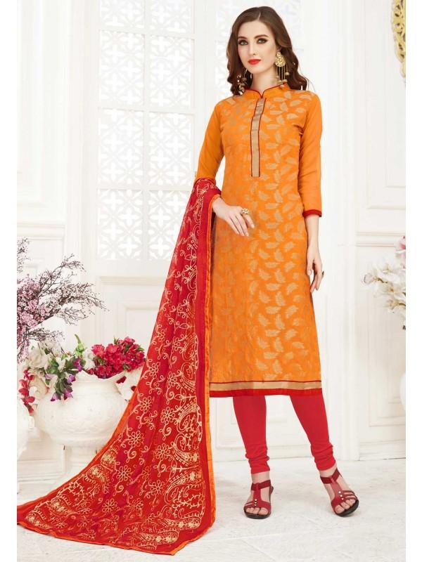 Orange Colour Indian Salwar Kameez.