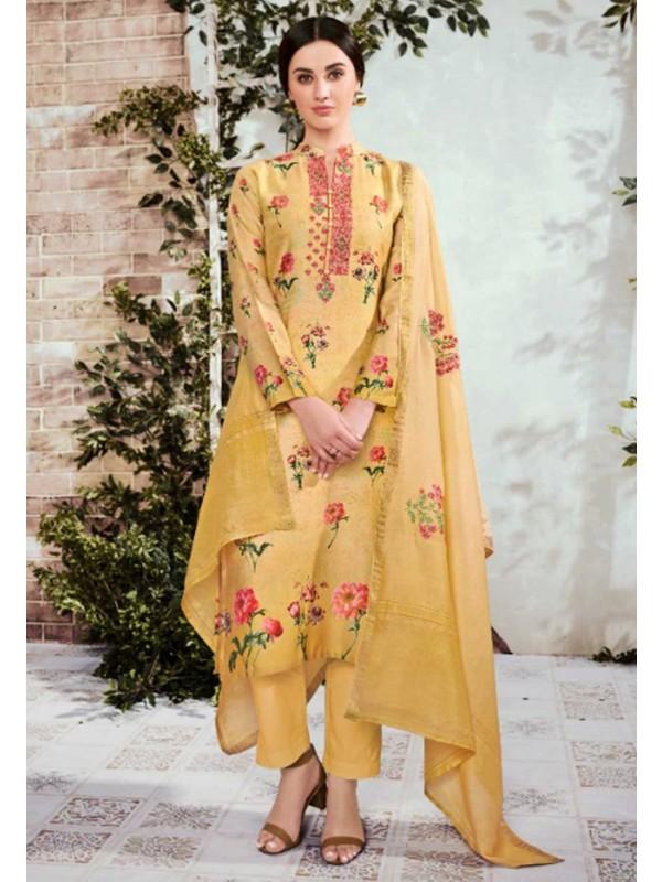 Yellow Colour Designer Palazzo Salwar Suit.