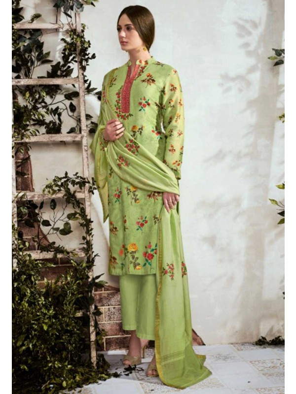 Green Colour Embroidery Salwar Suit.