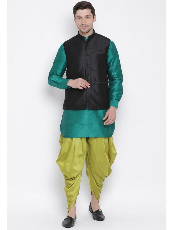 Dhoti Kurta Pajama Green,Blue Colour.