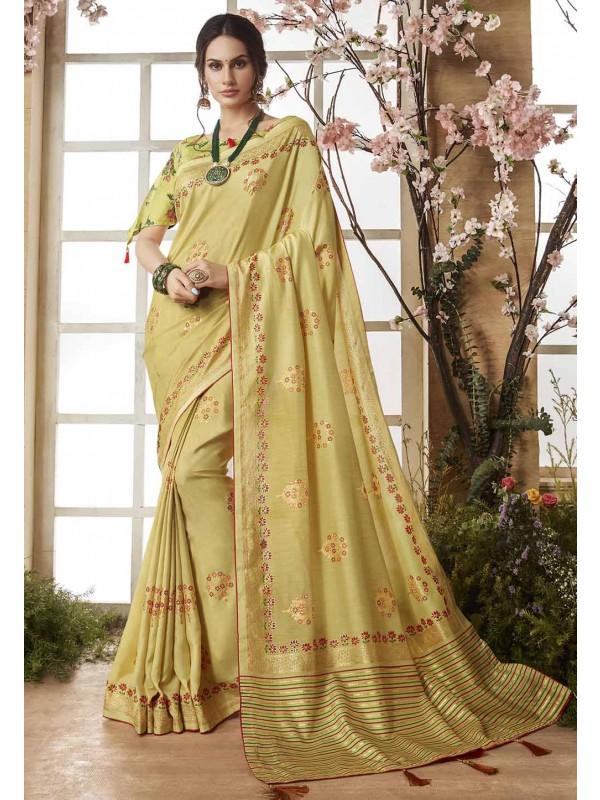 Yellow Color Designer Saree.