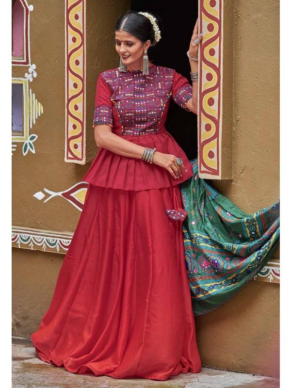 Maroon Colour Silk Designer Lehenga Choli.