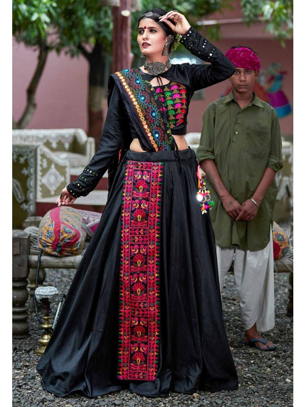 Black Colour Party Wear Traditional Lehenga Choli.