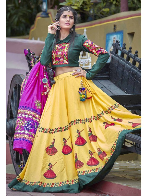 Designer Lehenga Choli in Yellow Colour.