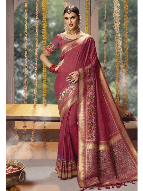 Banarasi Silk Indian Wedding Saree.