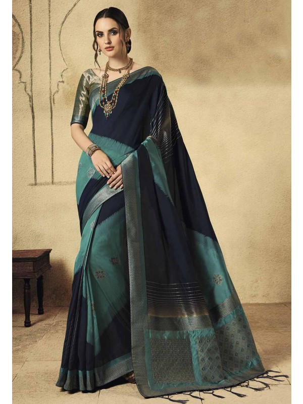 Multi Colour Weaving Saree.