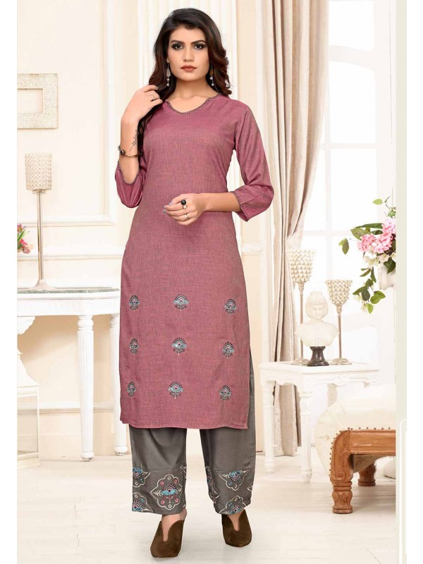 Brown Colour Casual Kurti.