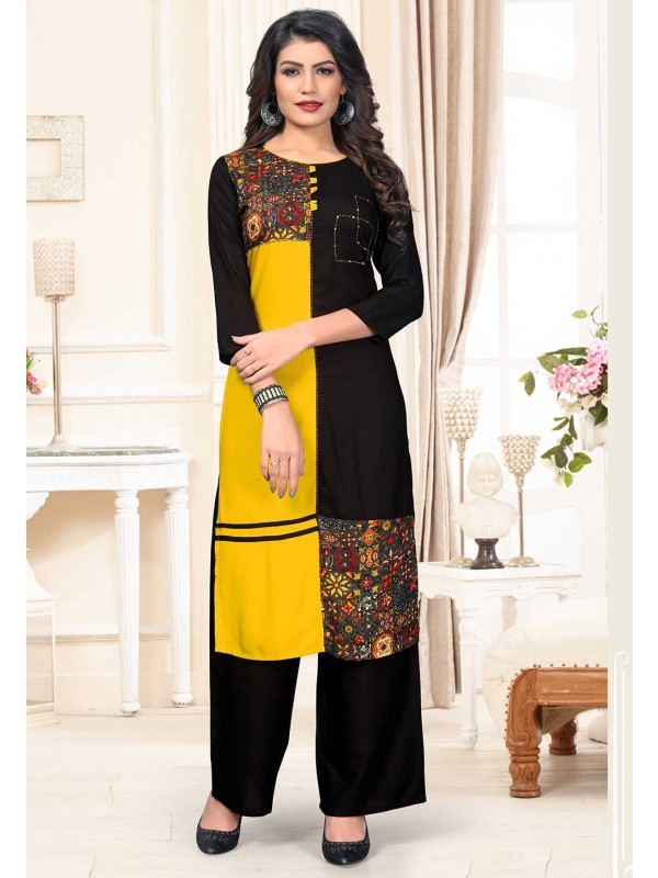 Multi Colour Printed Kurti.
