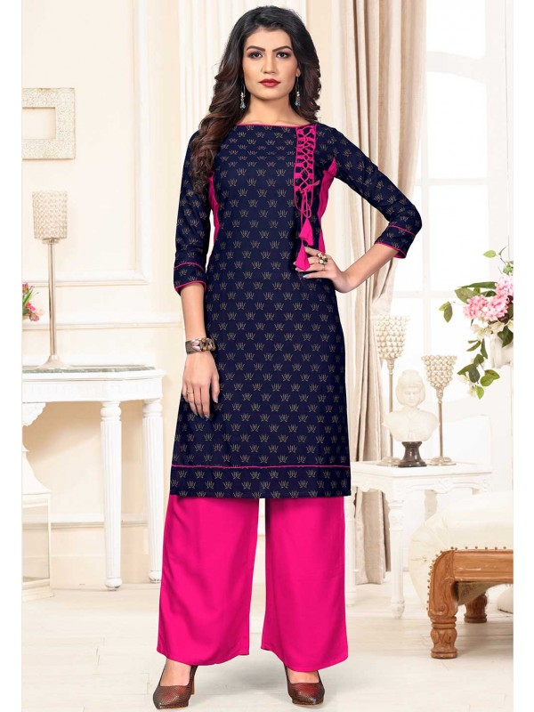 Blue Colour Designer Kurti.
