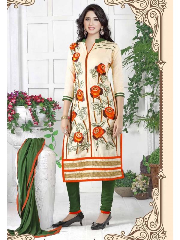Cotton Salwar Suit Beige Colour.