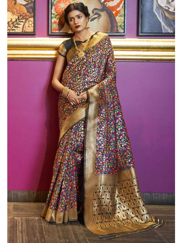 Multi Colour Weaving Saree.
