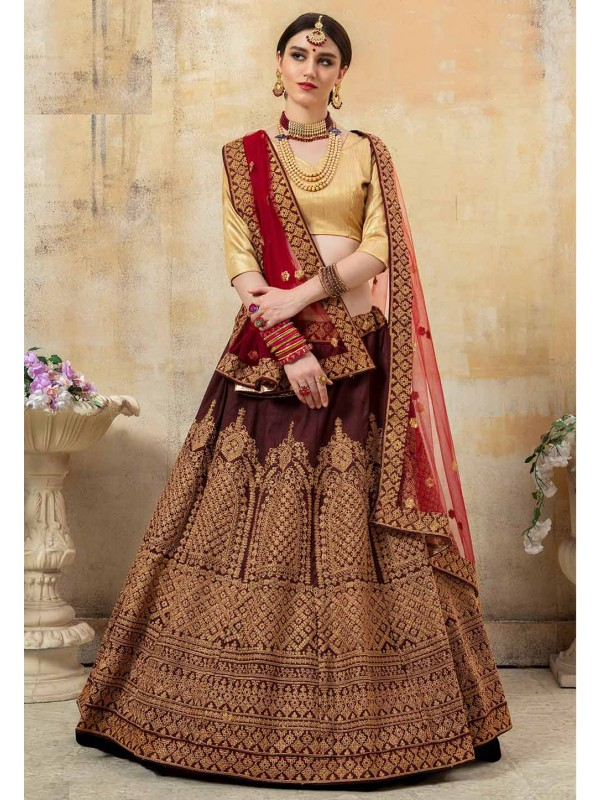 Maroon Colour Women Lehenga Choli.