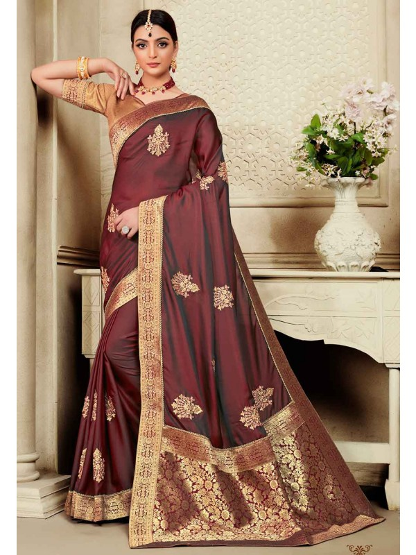 Maroon Colour Women Saree.