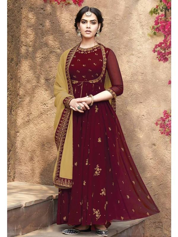 Maroon Colour Designer Salwar Suit.