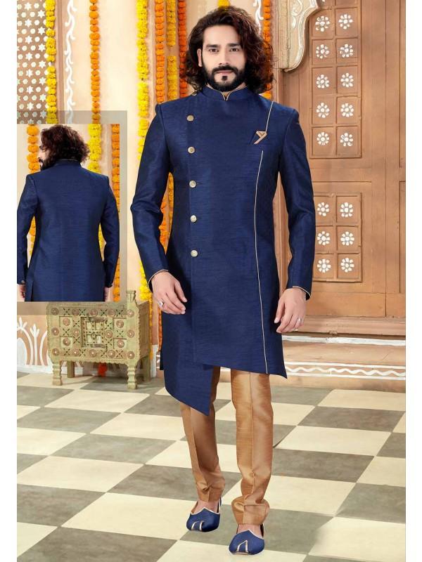 Navy Blue Colour Men's Designer Indo.