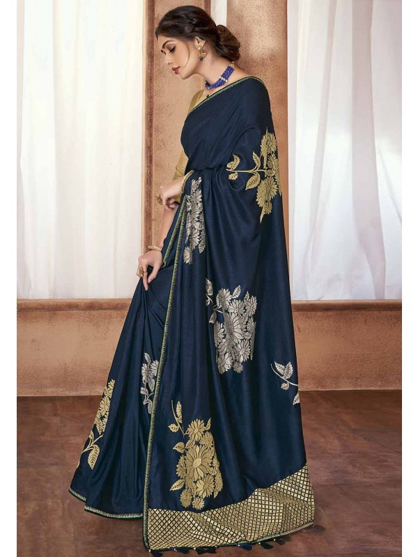 Teal Blue Colour Women Saree.