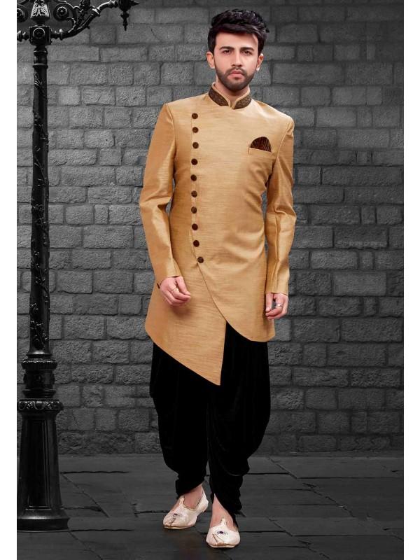 Beige Colour Men's Indowestern.