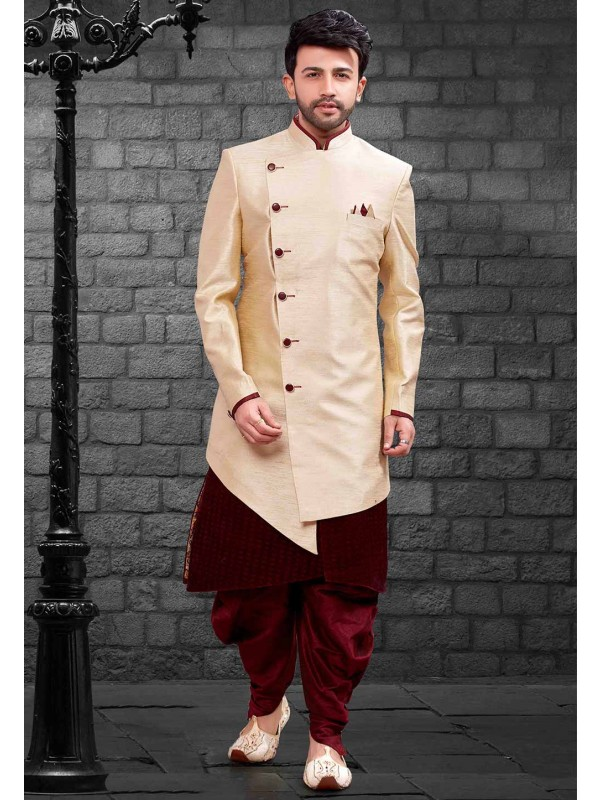 Cream Colour Designer Indowestern.