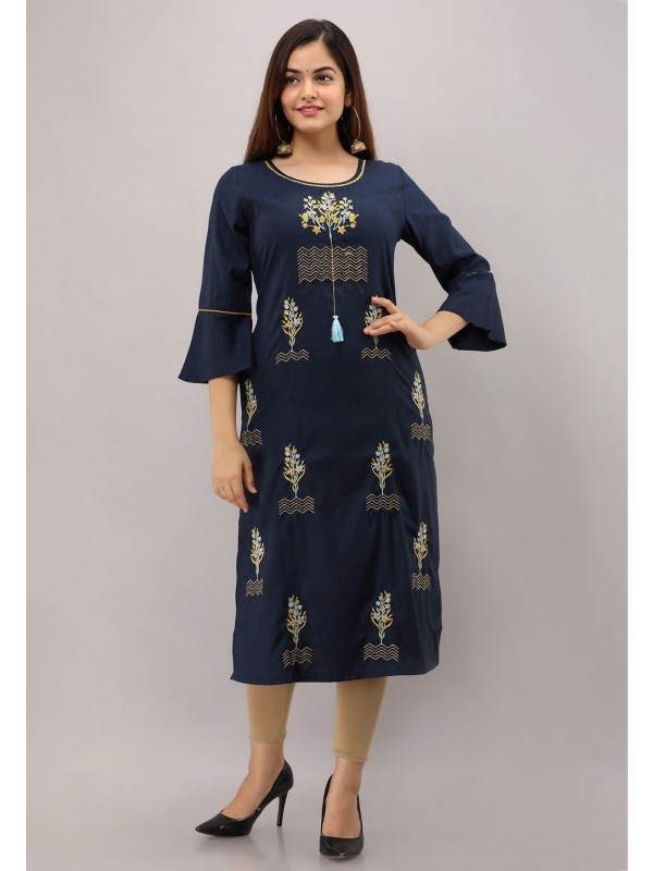 Blue Colour Party Wear Kurti.