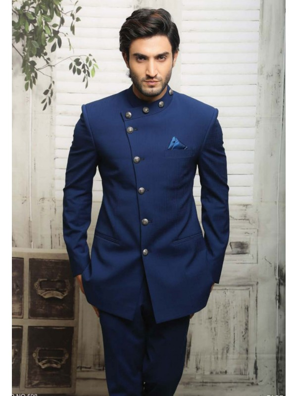 UNIQUE STYLE JODHPURI SUIT IN BLUE COLOR