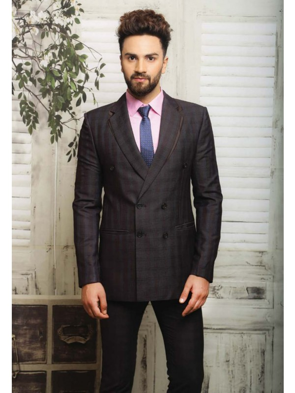 BLACK COLOR SUIT ITALIAN FABRIC