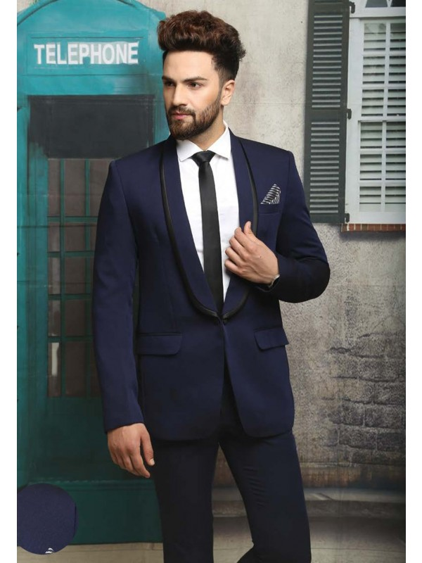 BLUE COLOR MEN'S WEDDING SUIT